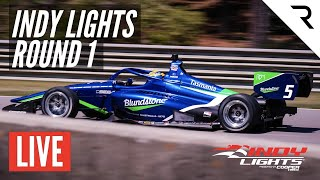 2021 Indy Lights Race 1 - Live full race