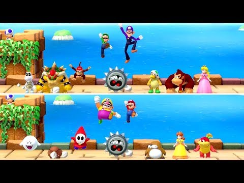 Super Mario Party - All Split Screen Minigames