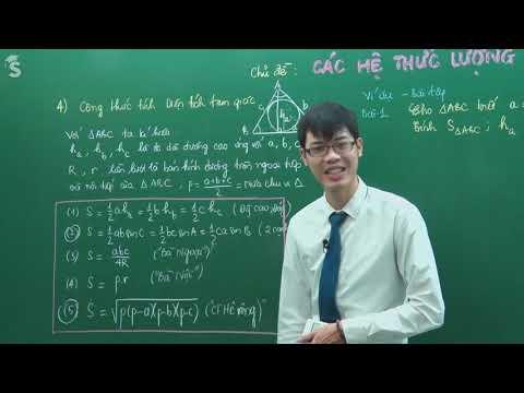Hệ thức lượng – Diện tích Tam giác – Hình 10 – Thầy Nguyễn Công Chính