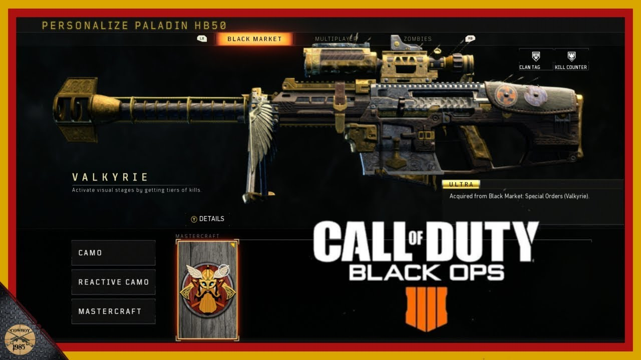 New Sniper Rifle In Call Of Duty Black Ops 4 Valkyrie Youtube