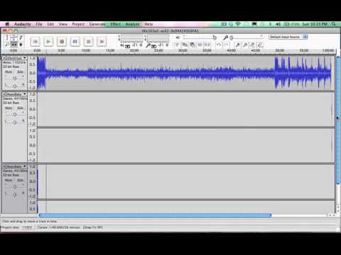 how to cut audio files on audacity