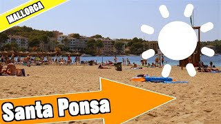 Santa Ponsa Mallorca Spain: Tour of beach and resort