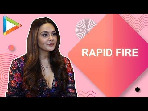 Romantic film with Shah Rukh Khan ya Action film with Salman Khan – Preity Zinta's SUPERB Rapid Fire