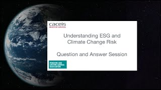 CACEIS - ESG & Climate Risk Q&A : The Trustee and the Technicians - PLSA Conference 2021