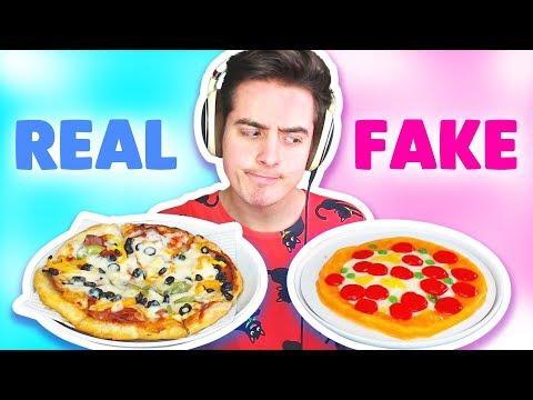 GUMMY vs REAL FOOD CHALLENGE!!