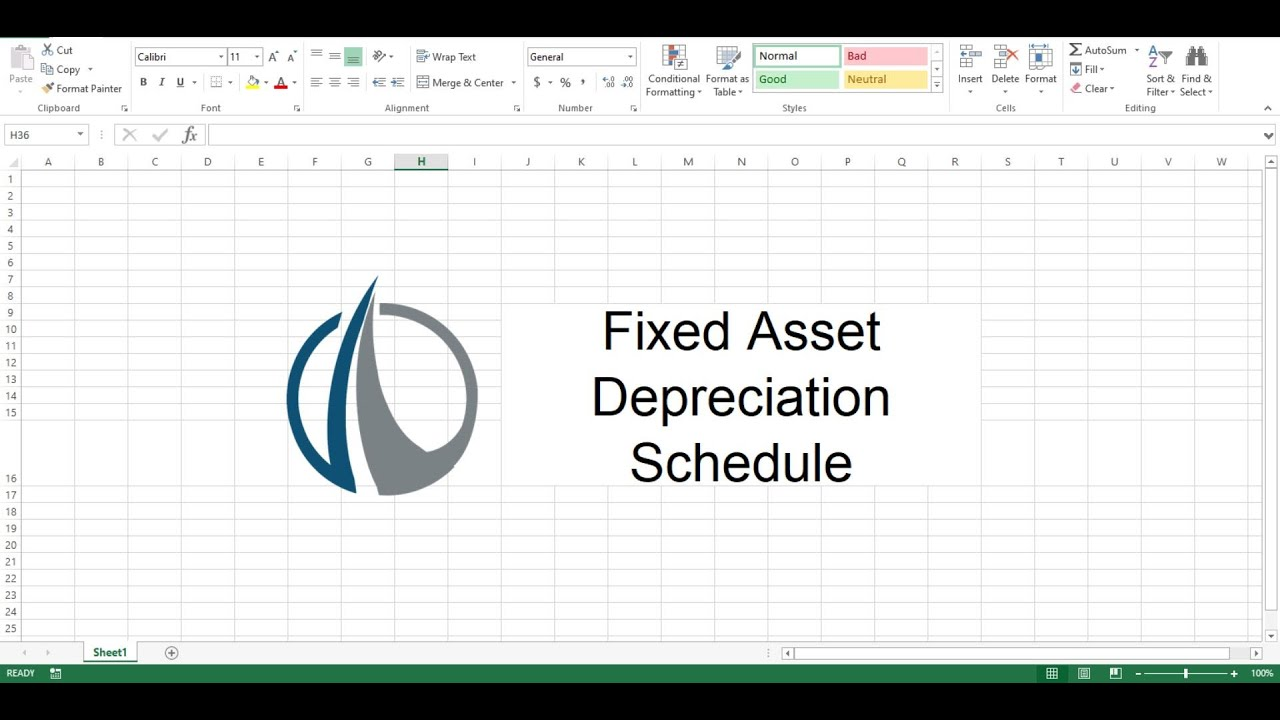 Fixed Asset Depreciation Schedule - Easily Keep Track of ...