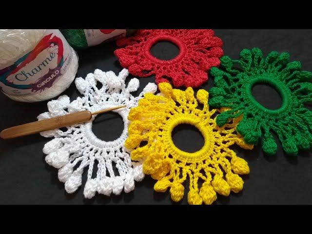 Como fazer Xuxinha para cabelo em crochê/ Elástico para cabelo/ Diy Crochet
