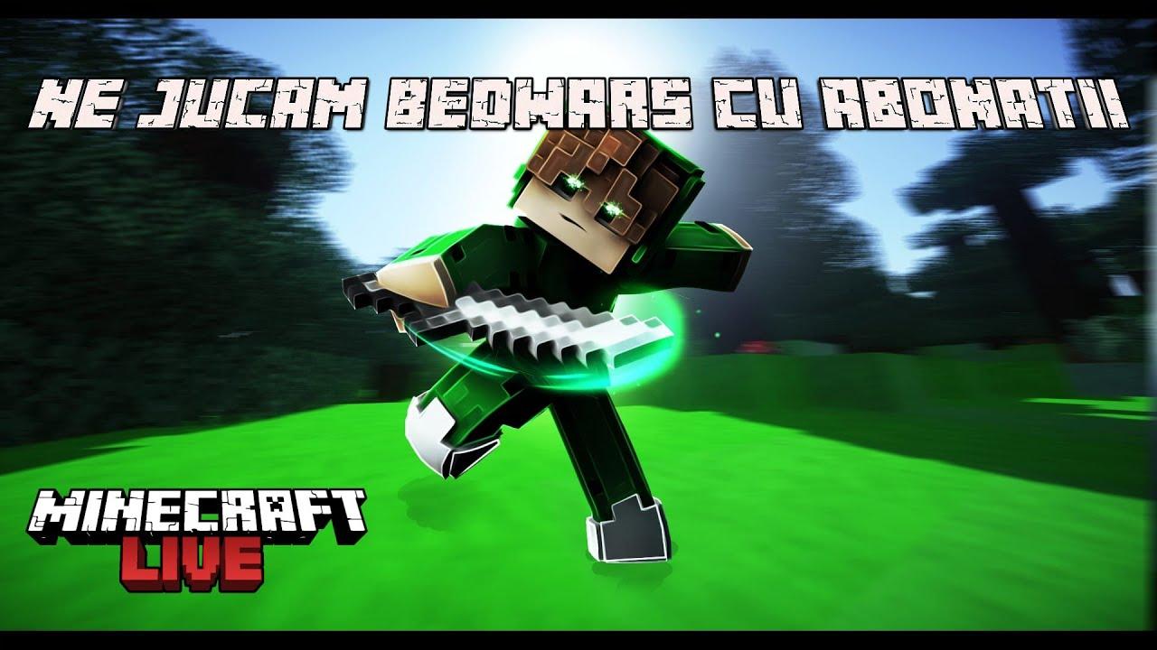 Ne jucam bedwars cu abonatii | Minecraft Romania Live |