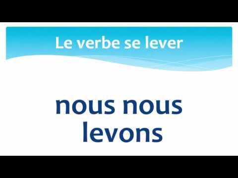 Conjugate Reflexive Verb Se Lever In Le Present Present Tense French Language Lesson