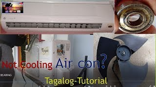 Air con Repair, How to change the bearing of the fan motor / Tagalog with English subtitle