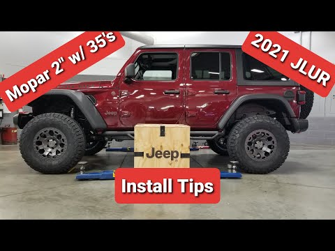 2021 Jeep Wrangler Unlimited Rubicon JLUR Mopar lift install with 35's, HOW TO