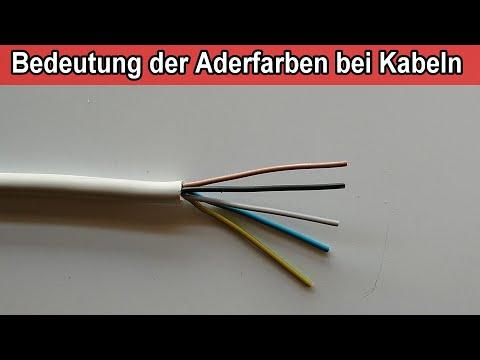 Aderfarben Beim Stromkabel Bedeutung Nym Kabel 5 Adrig Farben Der Drahte Leiter Youtube