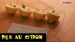 Comment faire une pile électrique avec des citrons description de l...
