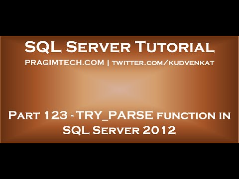 TRY PARSE function in SQL Server 2012