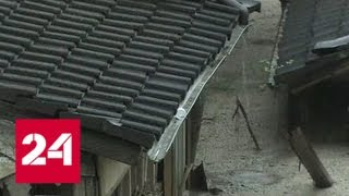 В Китае от ливней пострадали более ста тысяч человек   Россия 24