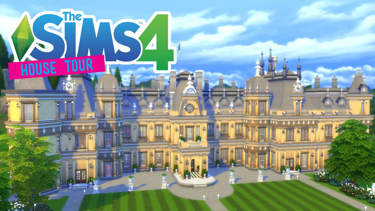 The Sims 4: Waddesdon Manor!   House Tour
