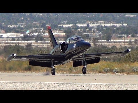 Patriots Jet Team Arriving at Hangar 24 AirFest 2017