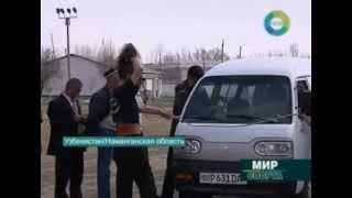 Узбекский богатырь таскает своими волосами многотонные автомобили и вагоны