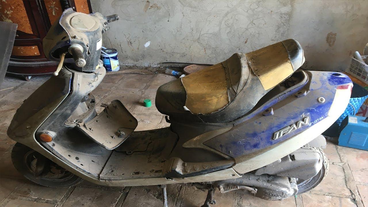 Restoration motorbike from Landfills #F1