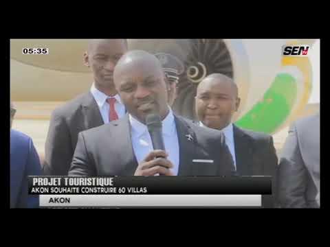 Projet Touristique: Akon sohaite construire 60 villas