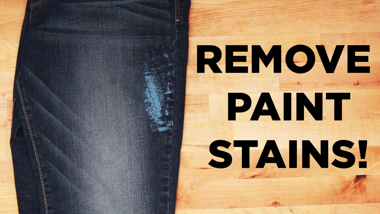 How To Remove Paint Stains Youtube