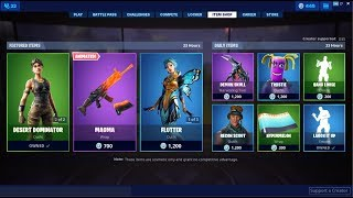 Desert Dominator Skin - Magma Wrap Back ! Fortnite Item Shop 15 juillet 2019