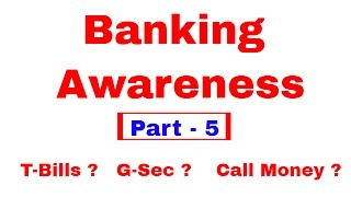 Banking Awareness For SBI PO & Clerk, IBPS PO, SSC CGL [In Hindi] Part 5