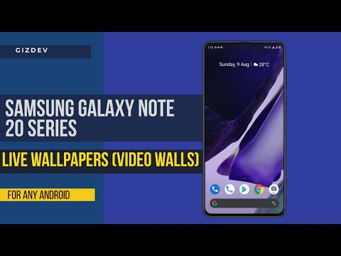 Samsung Galaxy Note 20 Live Wallpapers For Any Android Youtube