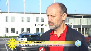 Gotland drabbat av flera strömlösa dagar - finns risk för fler avbrott - Nyhetsmorgon (TV4)