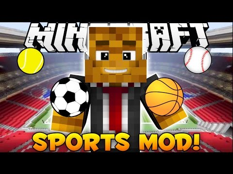 Minecraft EPIC Sports Mod - Basketball + Football + Soccer + Baseball + Tennis - Mod Showcase