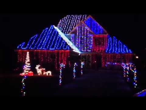 Musical Christmas House Lights