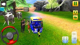 💥Police Tuk Tuk Auto Rickshaw Driving Games || Auto Rickshaw Gameplay 01 🛺 || Crazy Gameplay screenshot 4