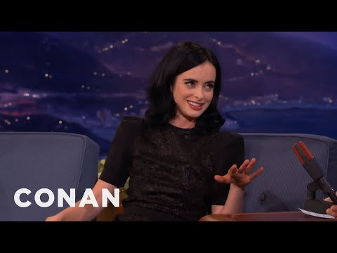 "Krysten Ritter Teaches Conan ""The Tush Push""  - CONAN on TBS"