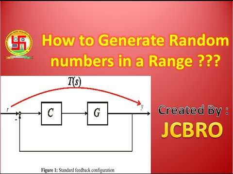 how to generate random numbers in a range