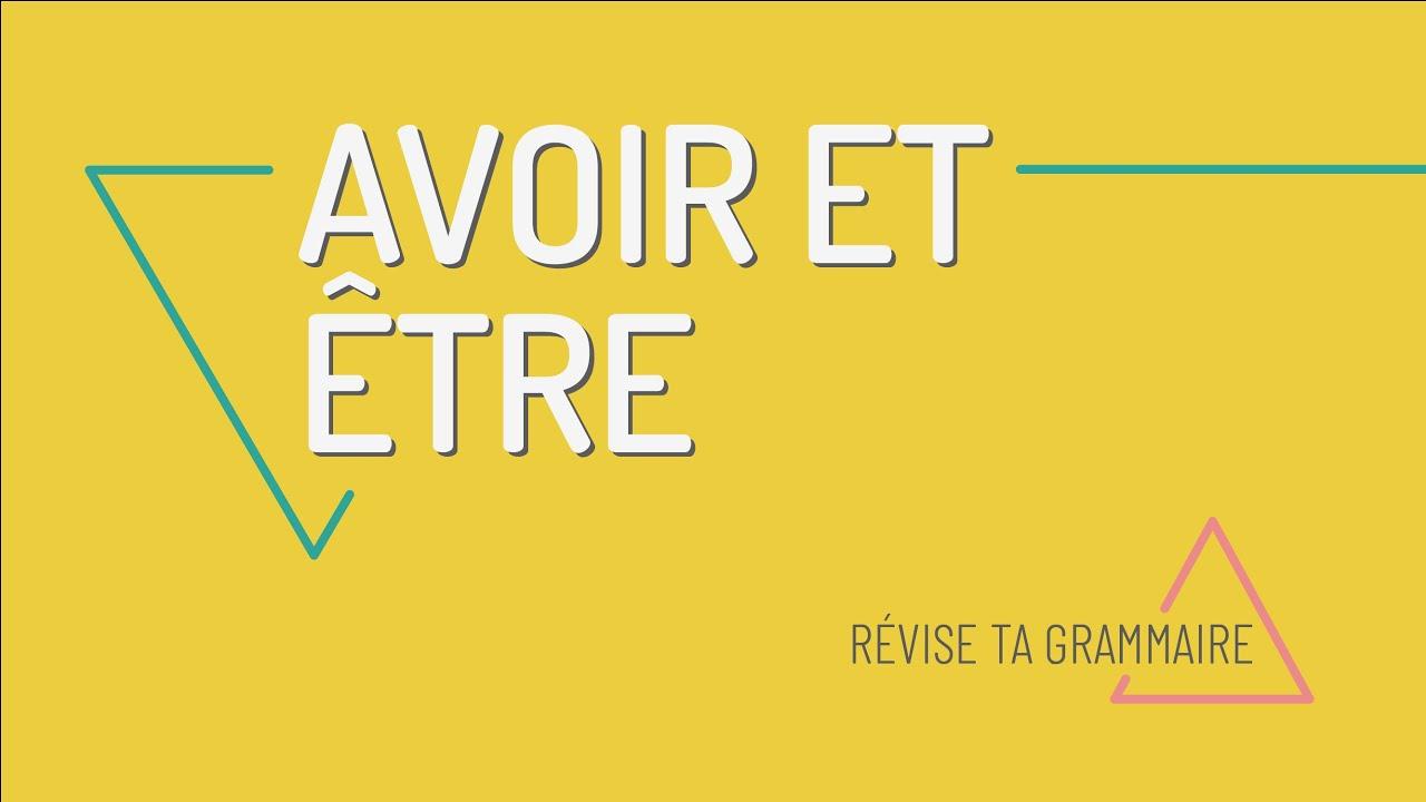 Comment Conjuguer Les Verbes Etre Et Avoir Au Present En Francais Fle A1 Youtube
