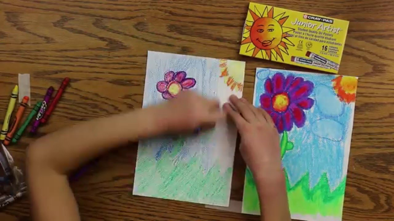 oil pastels vs crayons for kids youtube