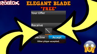 DID I JUST GET A FREE ELEGANT BLADE?! *A HUGE CRAZY MOMENT!* (ROBLOX ASSASSIN FREE ELEGANT BLADE!?)