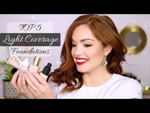 TOP 5 LIGHT COVERAGE FOUNDATIONS!!!
