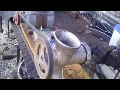 самодельная мясорубка с электроприводом / homemade electric grinder