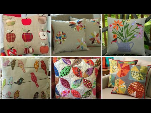 Amazing And Stylish Applique Work Cushions Cover Design / Quilted Cushion Covers 💓💓