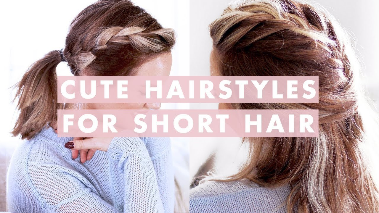 3 Easy Hairstyles For Short Medium Length Hair Youtube