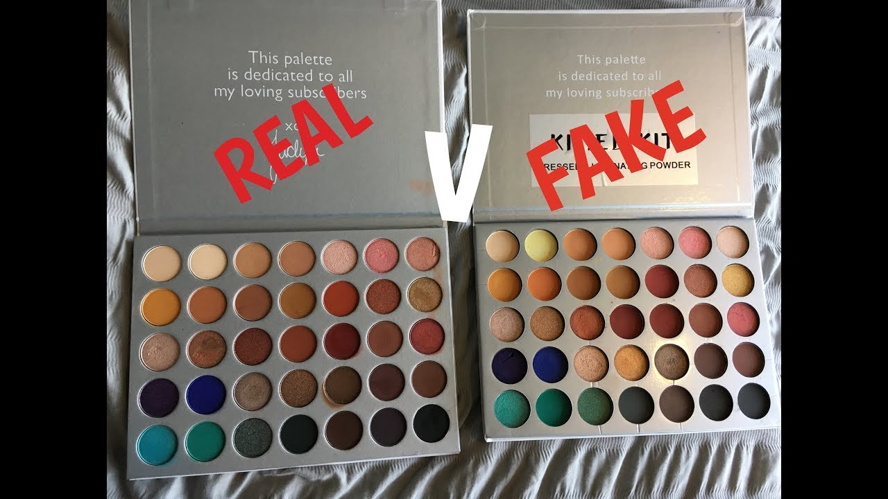 Comparing The Real Fake Jaclyn Hill X Morphe Palette You Ll Be Suprised Youtube