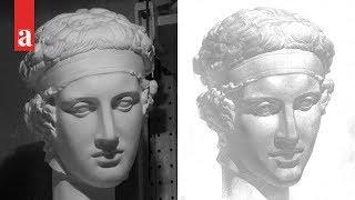 Рисунок гипсовой головы Диадумена (1 часть из 5)