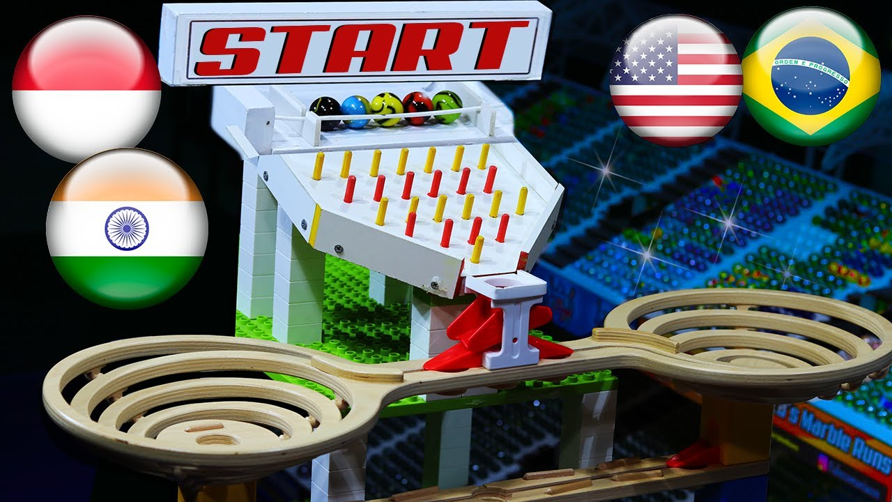 Marble Race: Friendly #8 - Olympics with marbles by Fubeca's Marble Runs