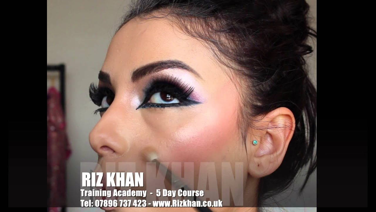 pakistani bridal hair & makeup on day 2 of the 5 day course.