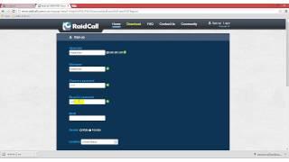 Raidcall Register