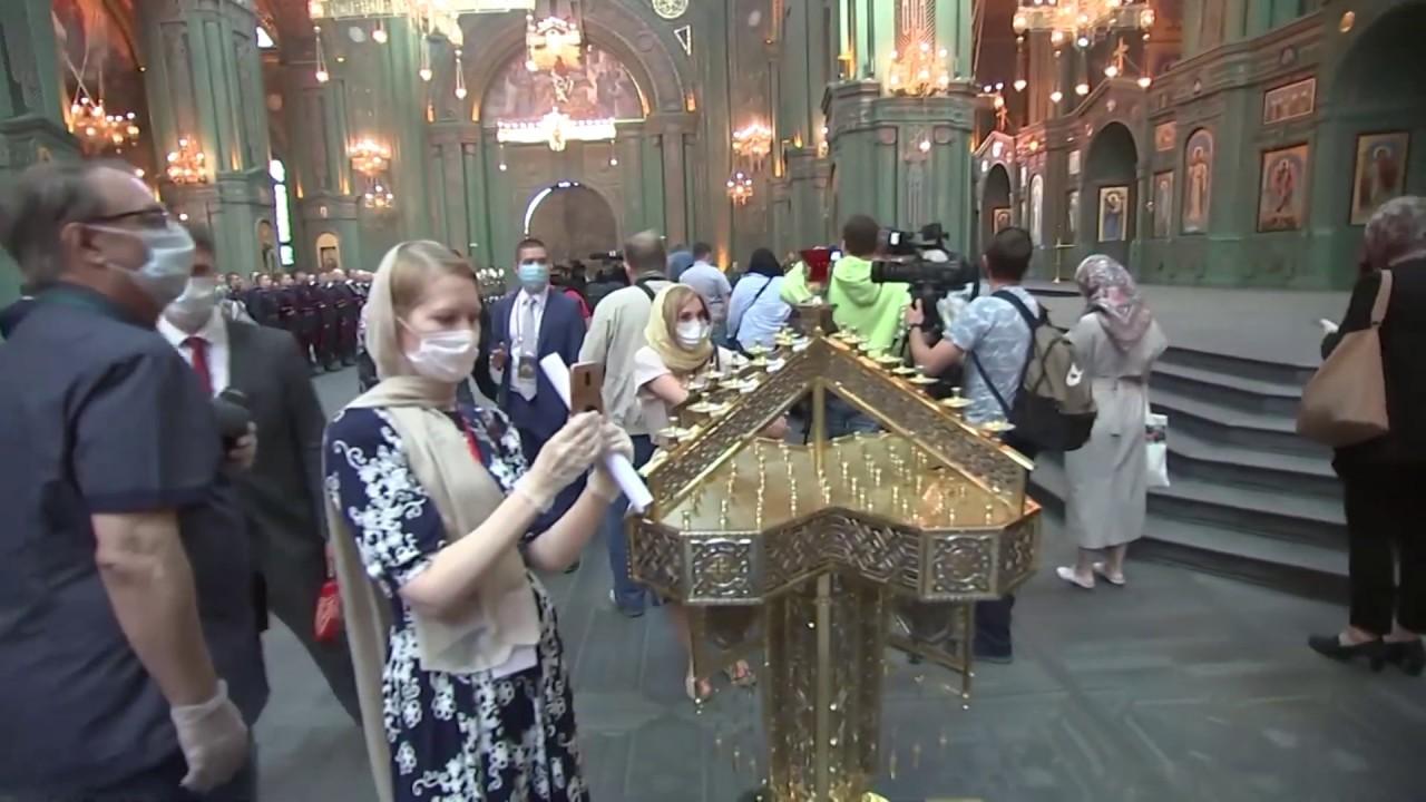 Иностранные журналисты посетили Главный храм ВС РФ в Подмосковье