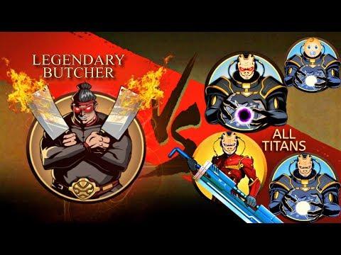 Shadow Fight 2 Legendary Butcher Vs All Titans