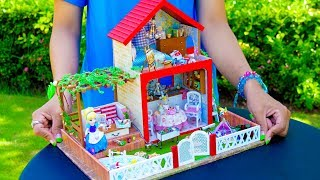 DIY Miniature Dollhouse - a Kitchen, Living Room, Bedroom, etc.