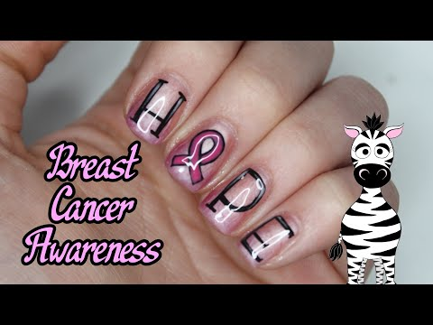Hope Breast Cancer Awareness Butterfly Gel Nail Art Tutorial | Madam Glam Think Pink thumbnail
